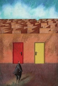 doors to a maze